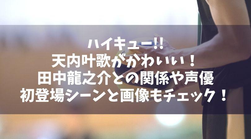 ハイキュー天内叶歌がかわいい!田中龍之介との関係や初登場シーンと画像に声優もチェック!