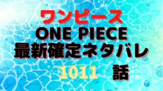 ワンピースネタバレ1011